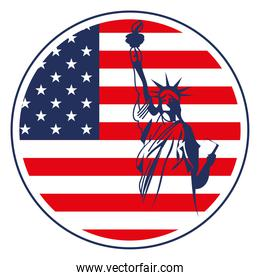 statue of Liberty flag