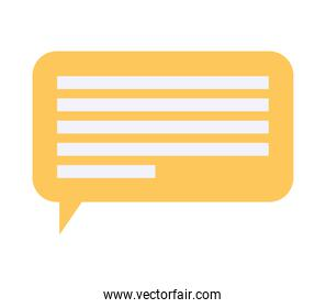yellow message bubble