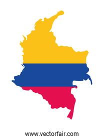 colombian map flag