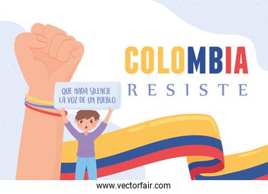 Colombia resists protest