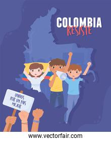 colombia resists manifestation