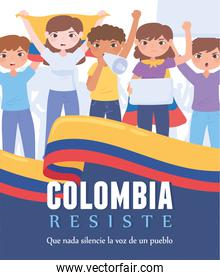 colombia resists demostration