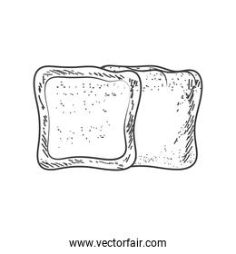 baked of bread sketch