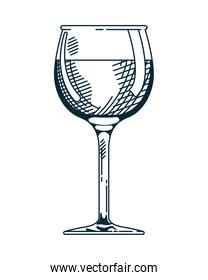 wine cup drink beverage hand drawn style icon