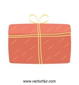 red giftbox present packing isolated icon
