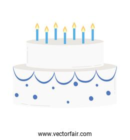 birthday sweet cake with candles