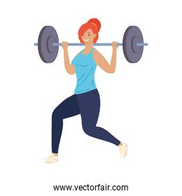 athletic woman lifting weight fitness lifestyle