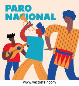 colombian national strike poster