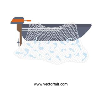 outboard fishing boat