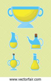 olive oil containers