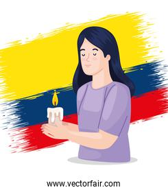colombian with candle