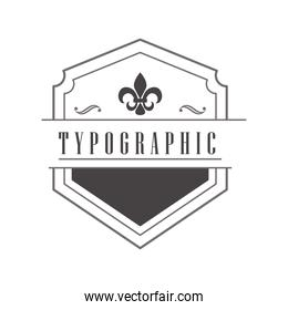 typographic vintage badge