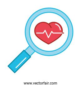 magnifier heartbeat medical