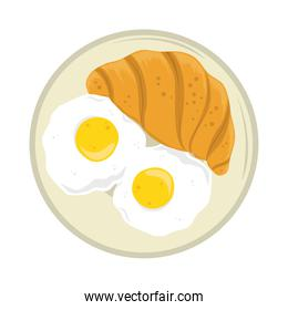 breakfast egg and croissant