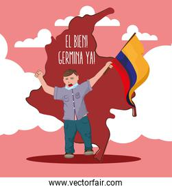 colombia man protest
