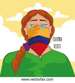 colombian woman crying