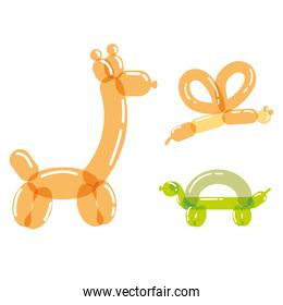 cute animals inflatable balloon
