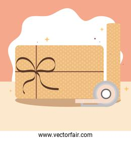 wrapping gift paper