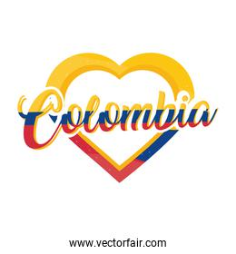 colombia lettering flag color