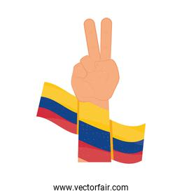 colombia flag peace and love