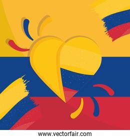 heart flag colombia