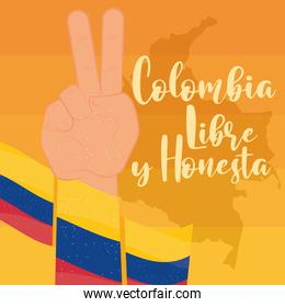 colombia peace and love hand