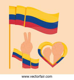 colombia protest icons