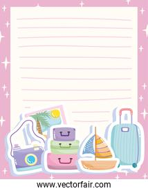 travel paper with accessories
