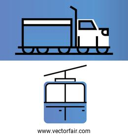 truck cableway transport