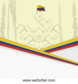 Colombia nation banner