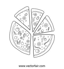 pizza one line food