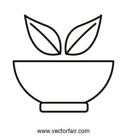 bowl with leafs