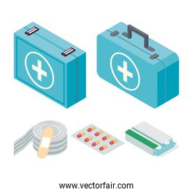 five first aid icons