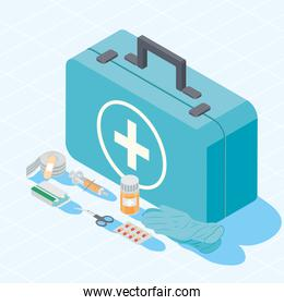 kit and first aid icons