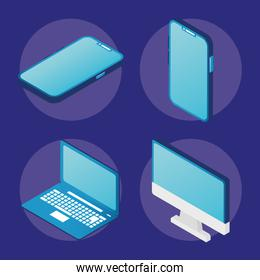 four electronic devices