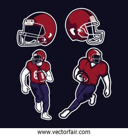 four american football icons