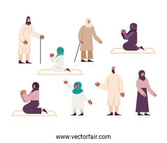 eight muslim persons