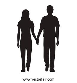 lovers couple standing