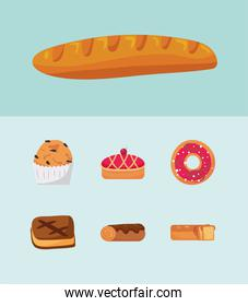 seven bakery icons