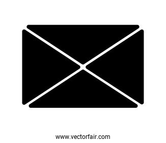 envelope mail silhouette