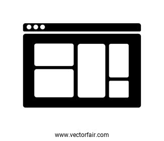 webpage silhouette icon