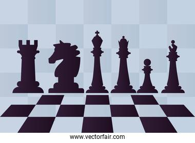 six chess pieces game