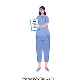 woman doctor with medical history