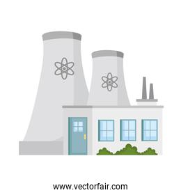 Isolated plant with chimneys