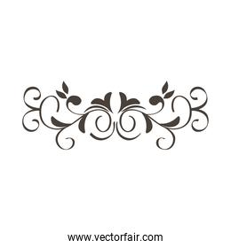 Isolated silhouette ornament