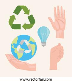 Recycle icon collection