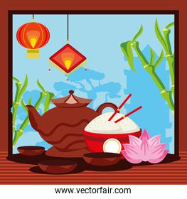 chinese traditional tea food