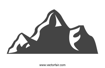 mountains silhouette sketch