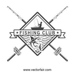 fisher and rods emblem