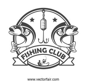 hook and fishes emblem